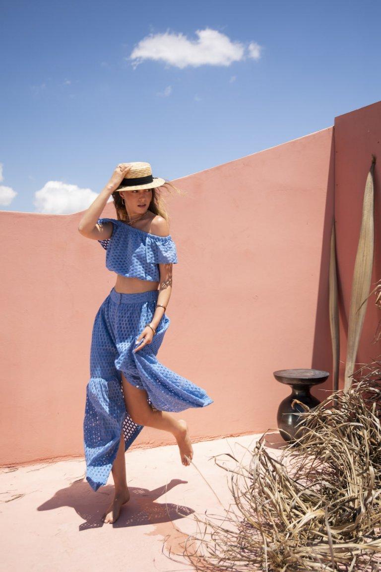 Cassia blue set/Skirt & top