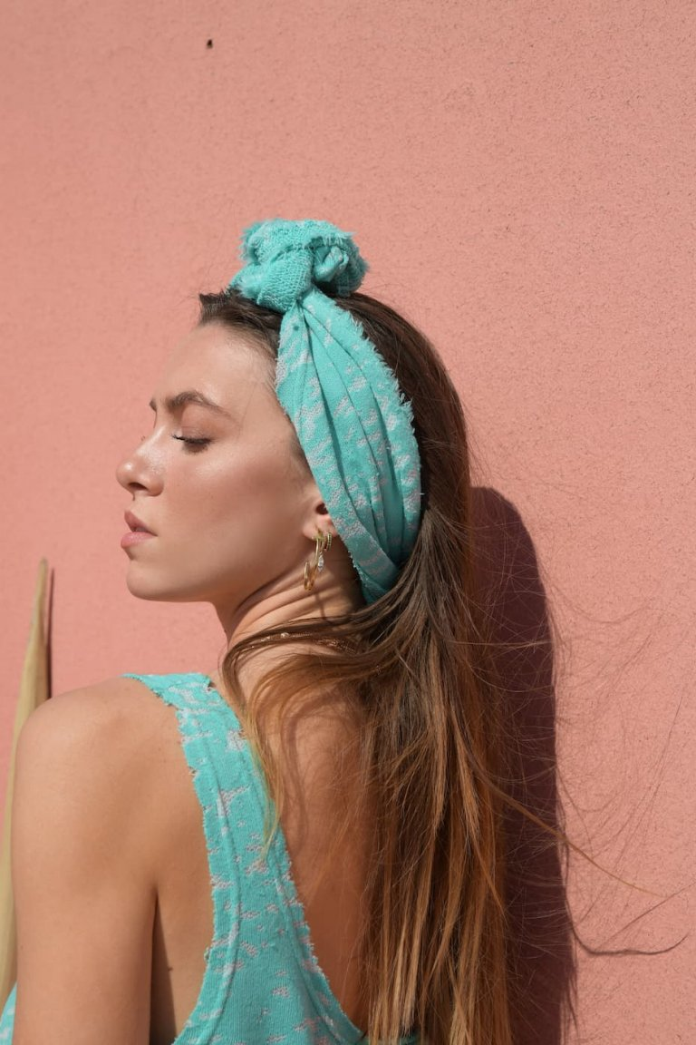 Eirini mint headpiece