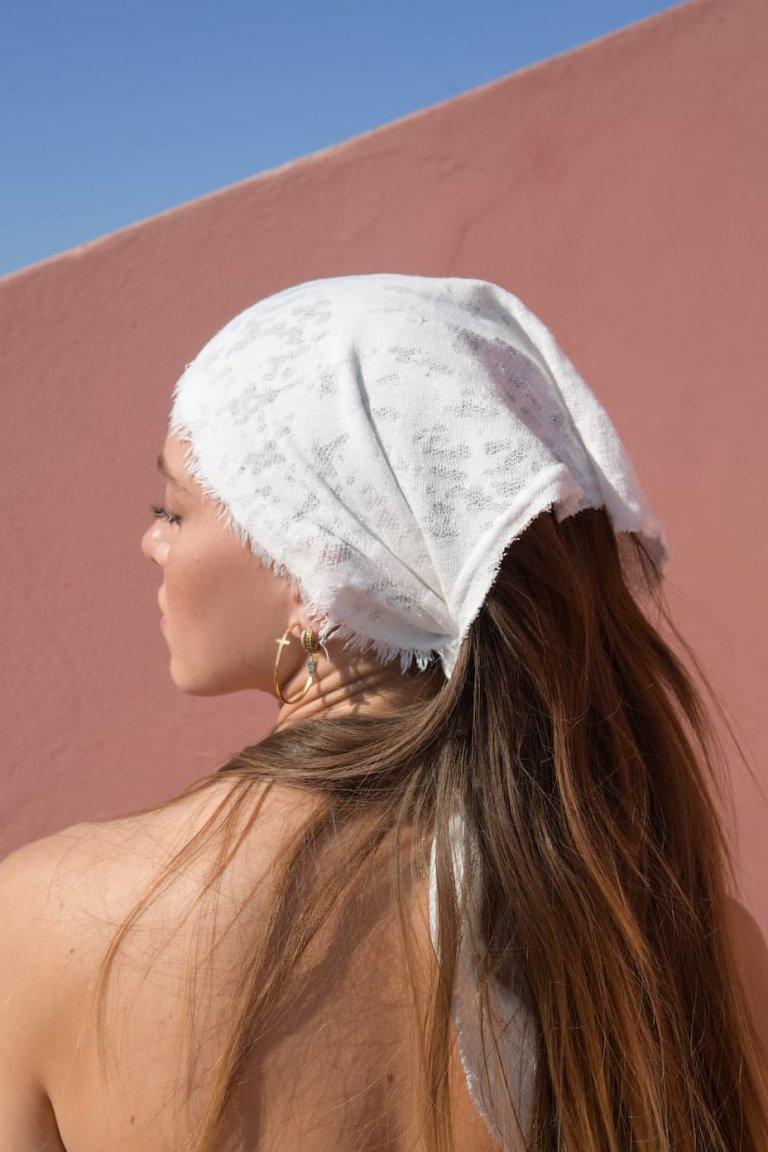 Eirini white headpiece