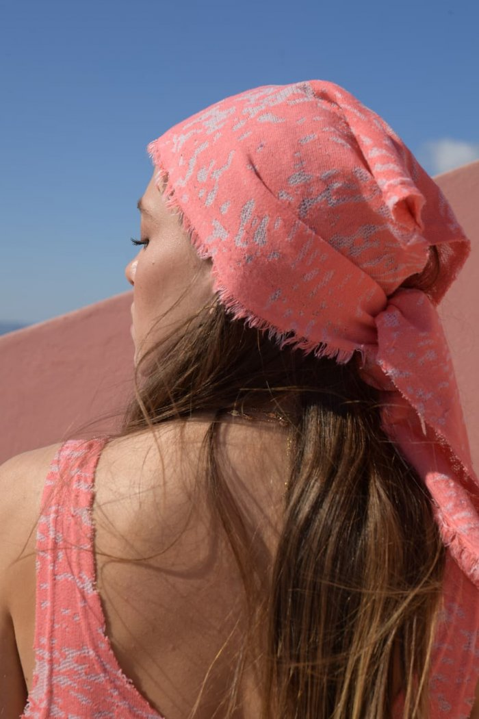 Eirini coral headpiece