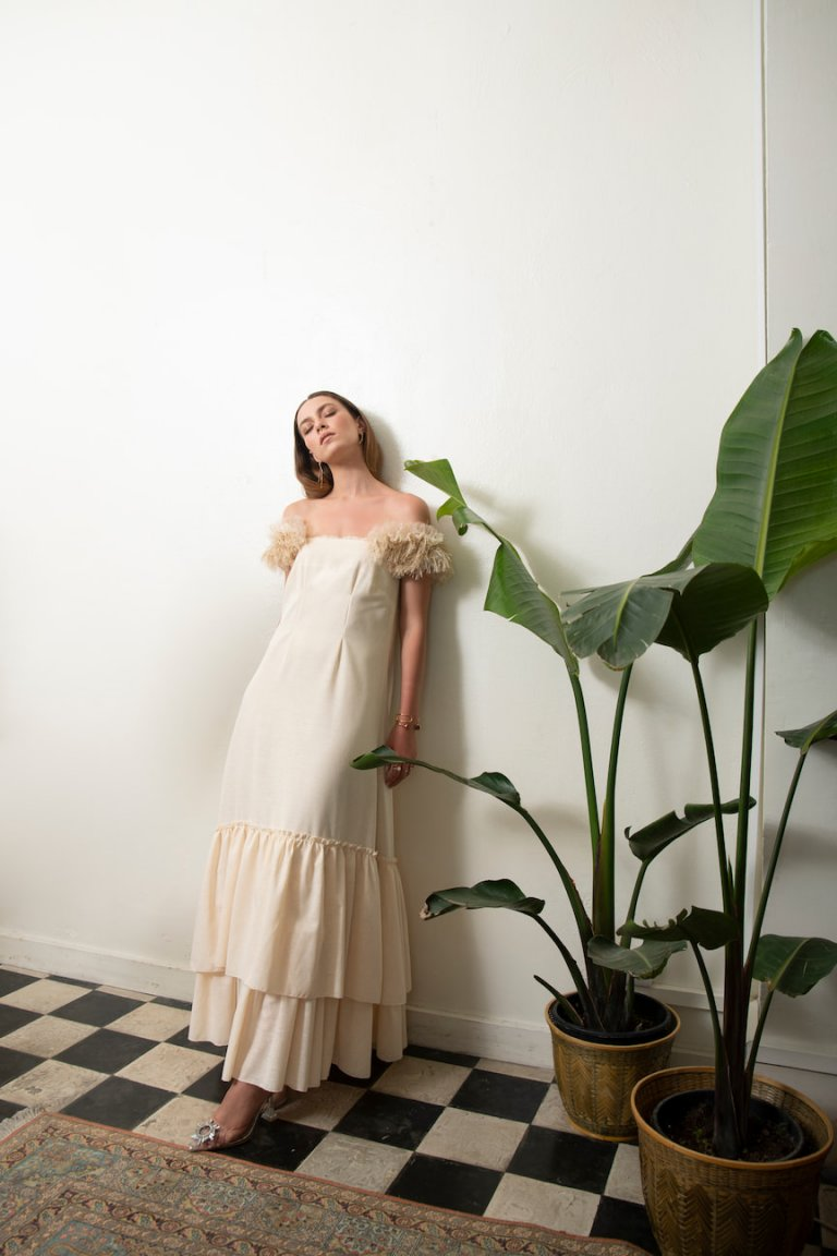 Grace luxury ruffled maxi dress