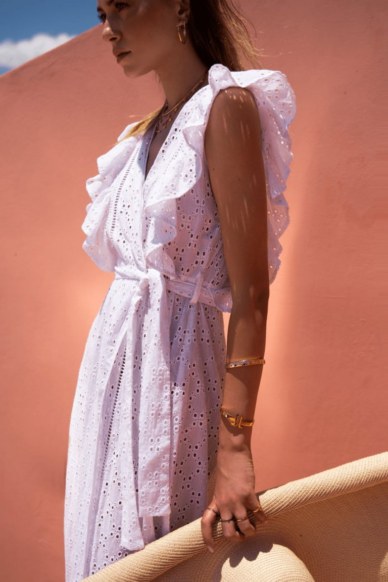 Harmonia lace white coverup