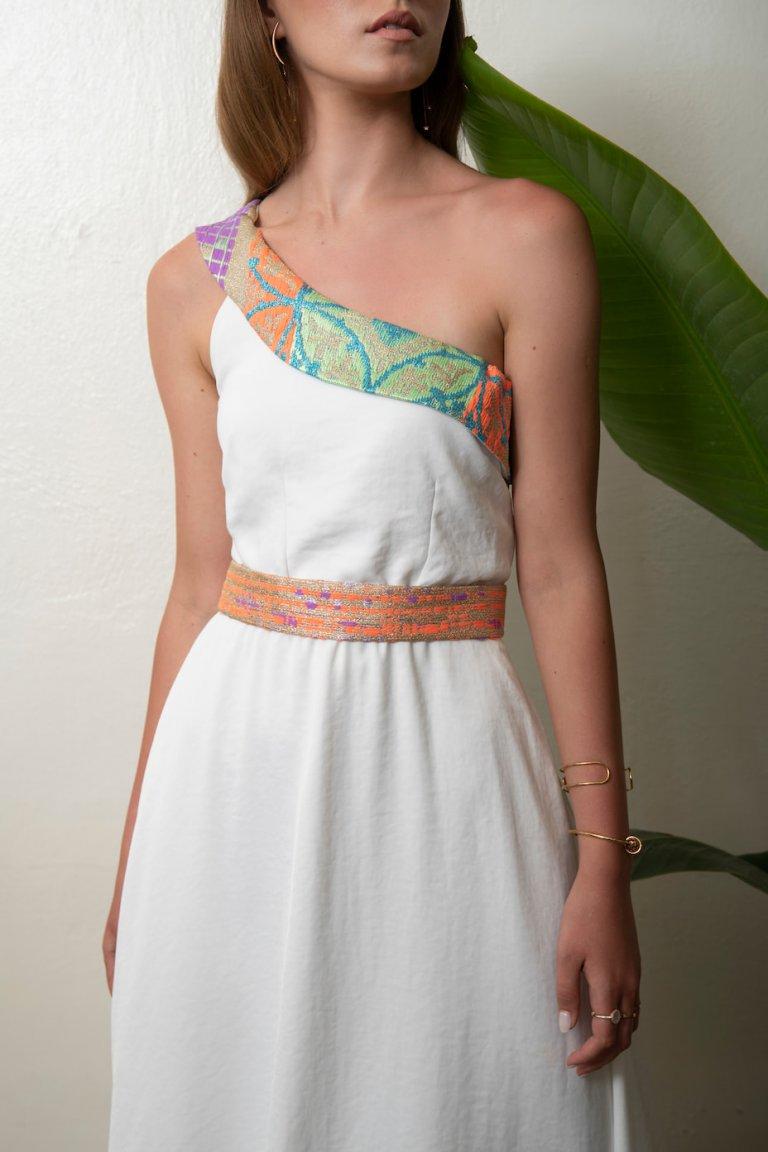 Mairylin luxury embroidered white dress