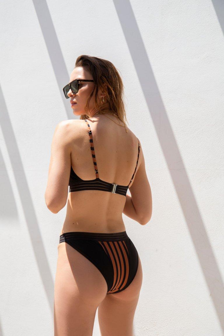 Medousa striped bikini suit